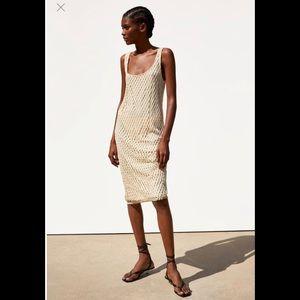 Zara Dress with Mesh Trim